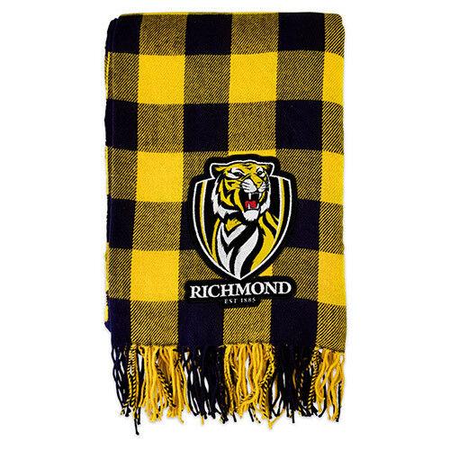 Carlton Blues AFL TARTAN Fabric Large Throw Rug Blanket Christmas Man Cave Gift