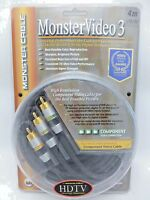 Monster Cable Video 3 Component Video 4 Meter Mv3cv-4m