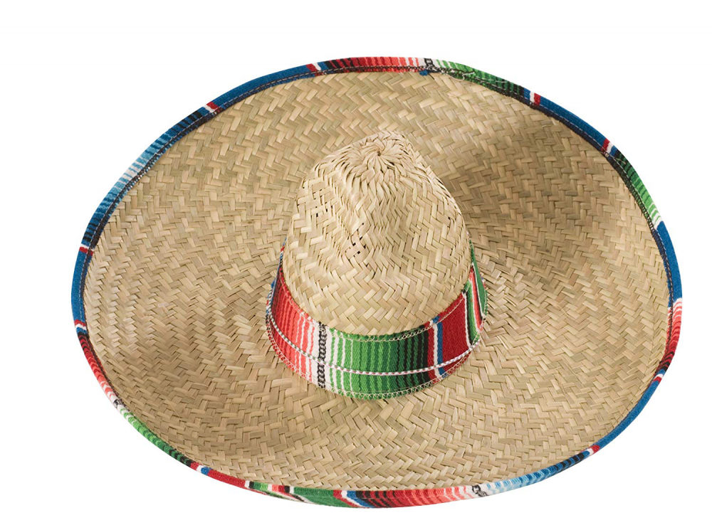 Rubie/'s Costume Sombrero with Rainbow Serape Edge And Band One Size Multi Color