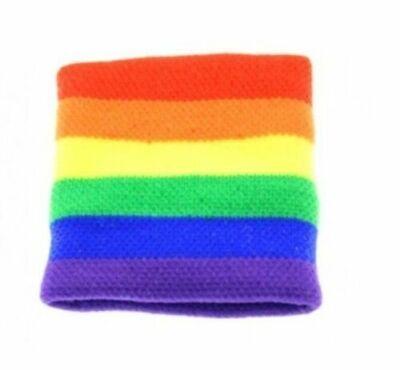 Importato Dall'Estero Adulto Unisex Gay Pride Rainbow Stripe Fasce Elastiche/braccialetto Adulto Costume-stband Adult Fancy Dress It-it Mostra Il Titolo Originale Acquista Sempre Bene