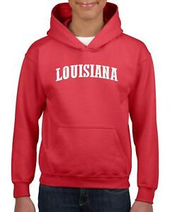 Details about LA Map New Orleans Flag Baton Rouge Home of University of  Youth&Kids Hoodie