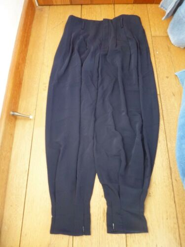 POLO RALPH LAUREN FRENCH NAVY CROPPED BAGGY DRAPEY HAREM TROUSERS UK12 us4 BNWT