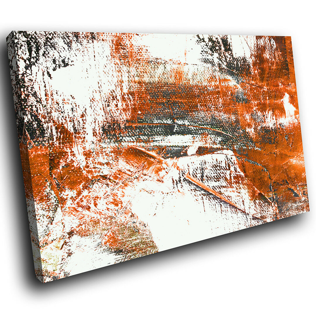 AB974 Orange Weiß grau Modern Abstract Canvas Wall Art Large Picture Prints