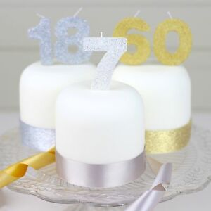 Image Is Loading Silver Or Gold Birthday Cake Candle S Number