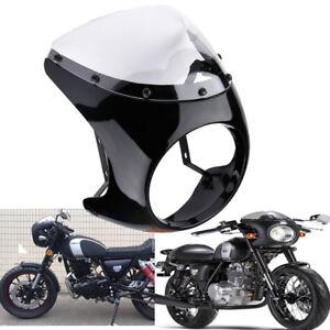 Universal-7-034-Headlight-Fairing-Retro-Cafe-Racer-Handlebar-Screen-Windshield