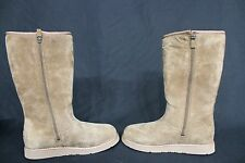 NEW! UGG Australia Sunset III Boots US Women's Size 6 Brown Leather/Shearling