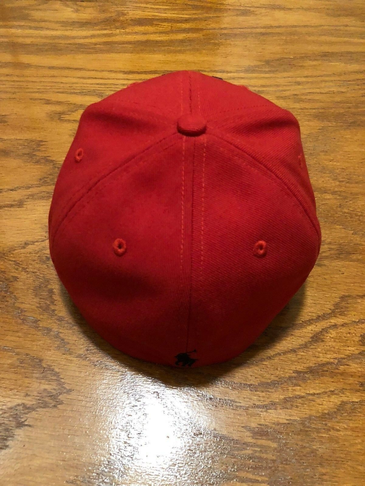 POLO POLO POLO RALPH LAUREN RED ATHLETIC 1967 CAP 6 PANEL BLACK PONY MEDIUM FITTED HAT f80161