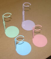 12 Kaiser 2099 Doll Stands 6.5 To 11 6 Pink & 6 Purple Colored Rainbow Stands