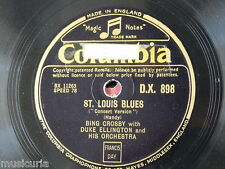 "78rpm 12"" DUKE ELLINGTON st louis blues w bing crosby / creole love call DX 898"