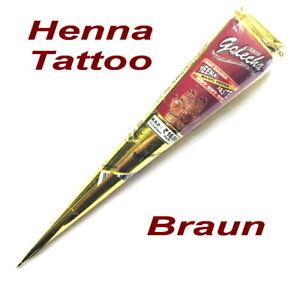 Henna-Paste-Tube-Rot-Braun-25g-Golecha-Indien-Henne-Tattoo-Kina-Stift-Mehndi