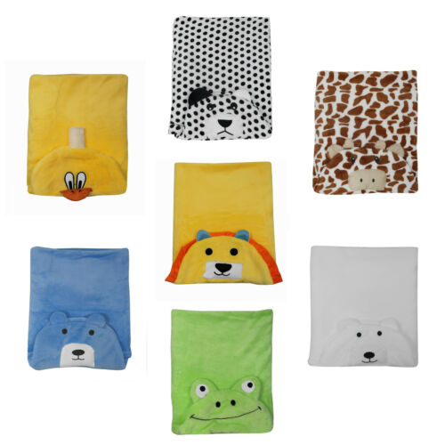 Animal Shaped Newborn Baby Fluffy Soft Fleece Hooded Blanket Wrap