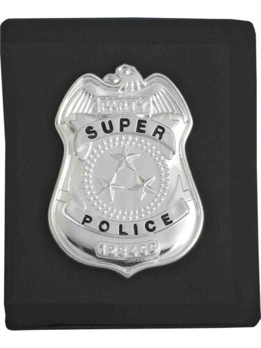 Costume Accessory Cop Badge With Black Wallet