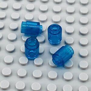 4 Pieces LEGO Parts Brick Round 1x1 Open Stud TRANSPARENT RED