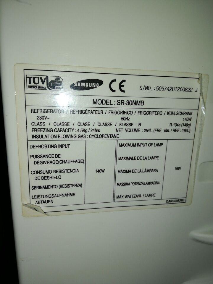 Køle/fryseskab, Samsung, b: 60 d: 60 h: 150