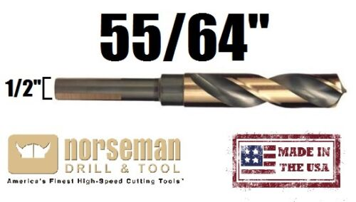 "29770 Norseman//Viking USA Drill Bit Super Premium High Speed 55//64/"" X 1//2 Shank"