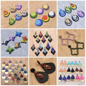 54-Styles-Women-Geometric-Wooden-Pendant-Earrings-Drop-Stud-Long-Dangle-Gift