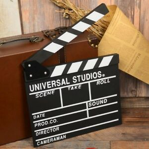 Movie-Film-TV-Slate-Clapper-Board-Dry-Erase-Clapboard-Cut-Action-Scene-Decor