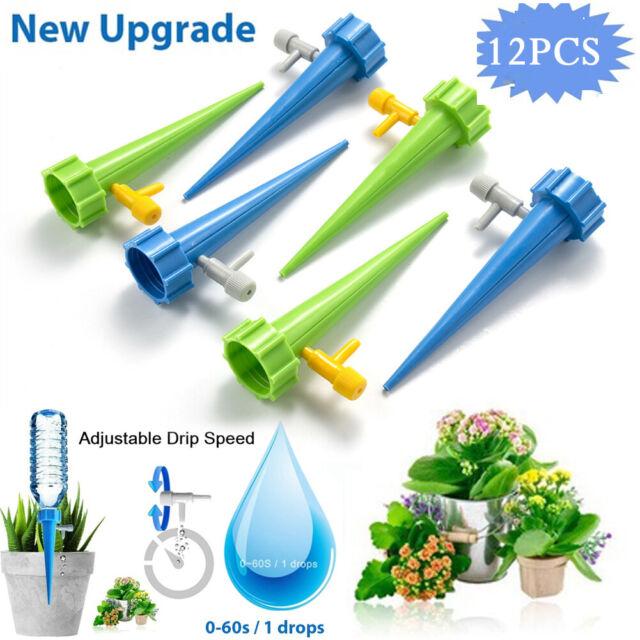12pcs Anlage selbst gießen verstellbar Stakes automatische Spikes Bewässerungssystem
