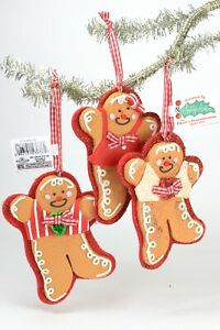 Gingerbread Boy and Girl Christmas Ornament NEW