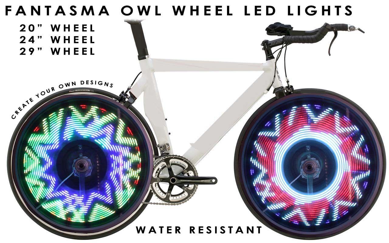 Fantasma OWL Spoke Wheel LED Light, Programmable, 700C,  One Wheel (BK-7082)  official website