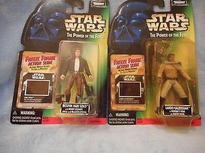 STAR WARS THE POWER OF THE FORCE PACKAGE OF TWO  ACTION FIGURES 1997 NRFB