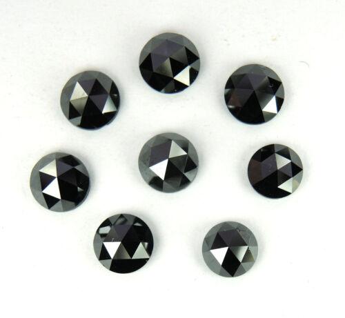 Details about  /Rose Cut Loose Diamond Black Rough Raw Diamond Faceted Cabochon 5mm-4mm 3Pcs NR0