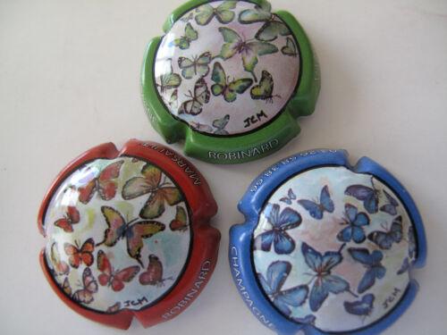 Série de  3 New capsules de champagne ROBINARD MARSAULT les papillons