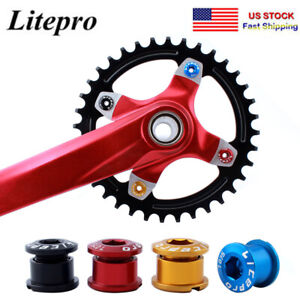 US-Aluminum-CNC-Single-Double-Triple-MTB-Bike-Chainring-Crank-set-Bolts-Screws