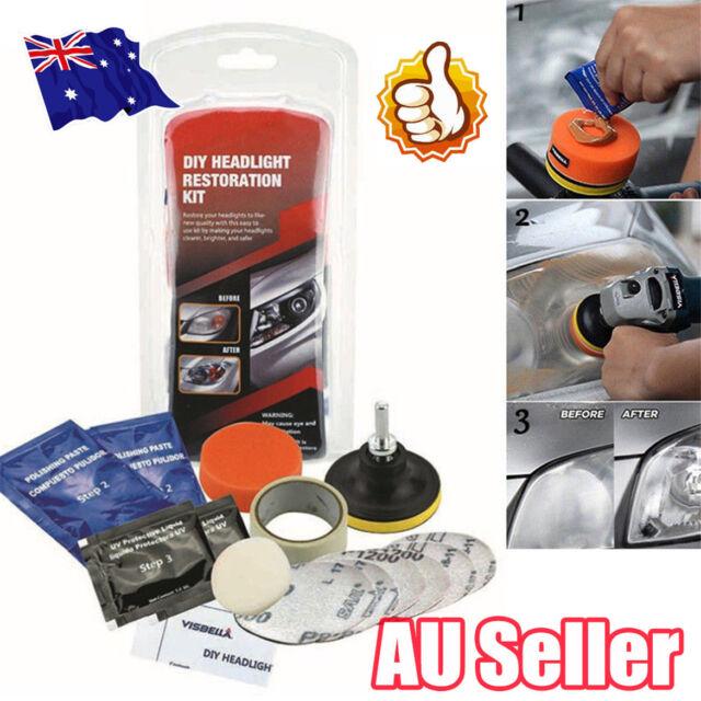 Car Headlight Lens Restoration System Professional Restorer Polishing Tool Kit E