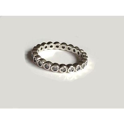 GENUINE PANDORA Silver Sparkling Romance Ring 190881CZ FREE DELIVERY