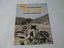 International Harvester Td 20 Diesel Crawler Brochure