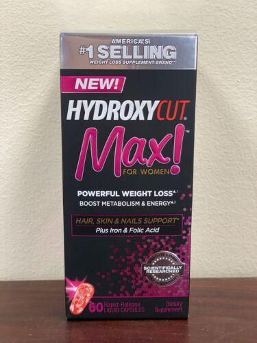 HYDROXYCUT-MAX-For-Women-Powerful-Weight-Loss-60-Liquid-Capsule-FRESH-STOCK