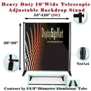 10 Heavy Duty Adjustable Step And Repeat Backdrop Trade
