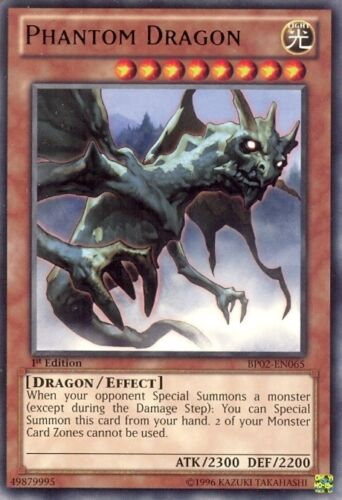 YU-GI-OH RARE BP02-EN065-1st EDITION PHANTOM DRAGON