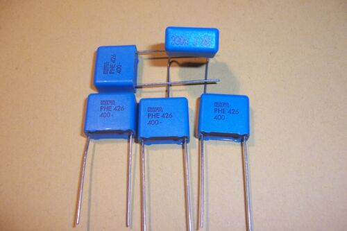 0.33uF 400V  Rifa High quality Capacitors Qty.5 VALVE RADIO HIFI  New