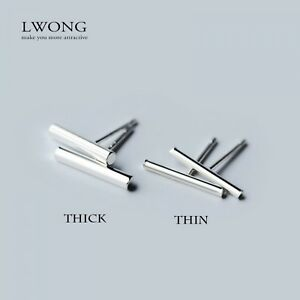 925-Sterling-Silver-Tiny-Round-Bar-Stud-Earrings-Minimalist-Line-Earring