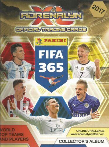 Panini Fifa 365 2017 ADRENALYN XL oro impacto fichajes ganadores elegir las tarjetas