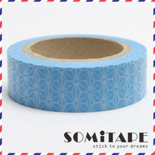 Geometric Blue Stars Washi Tape Craft Decorative Tape