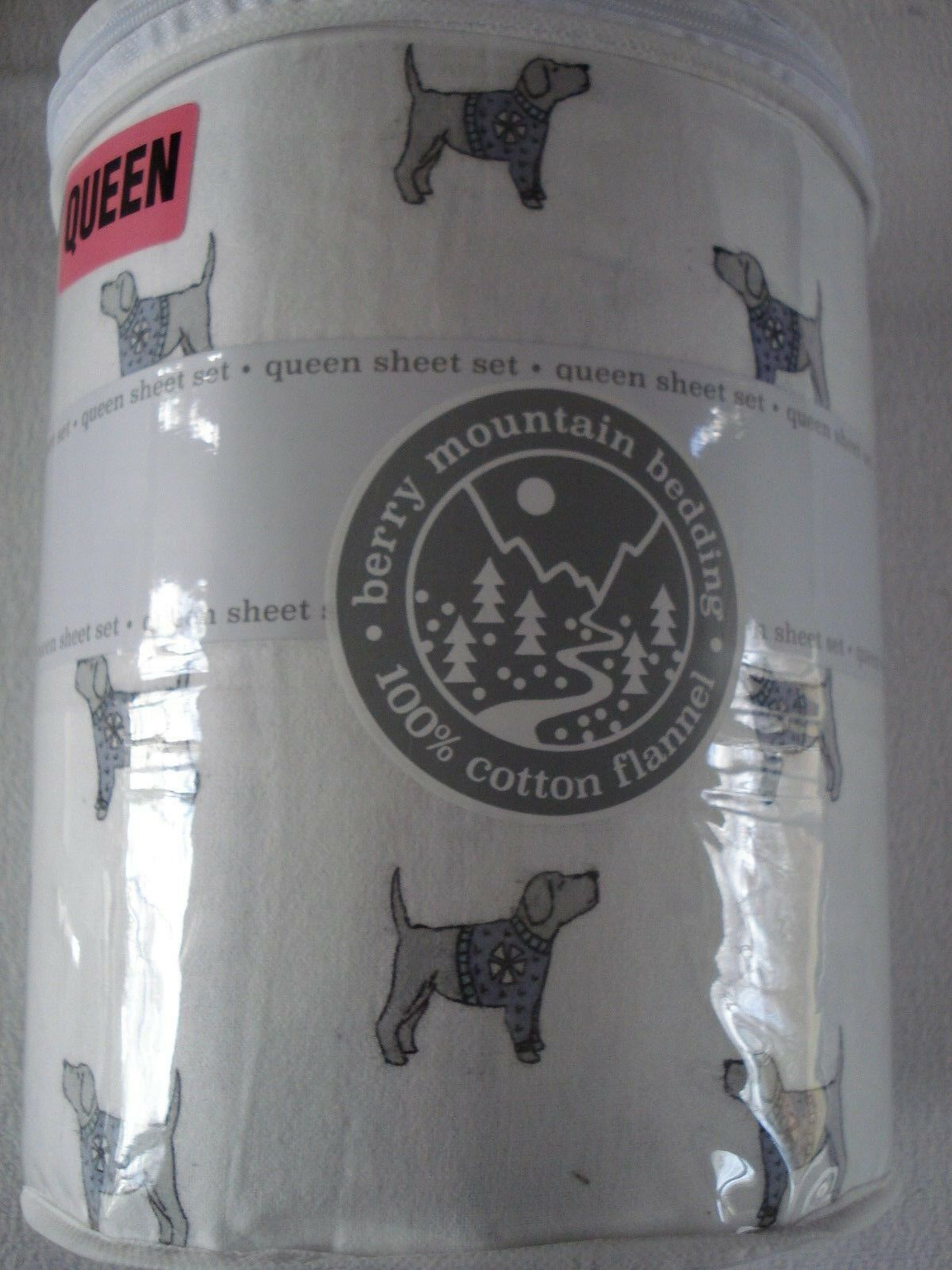 Berry mountain bedding    QUEEN 100% Cotton Flannel Sheet Set - Labrador Retriever f83800