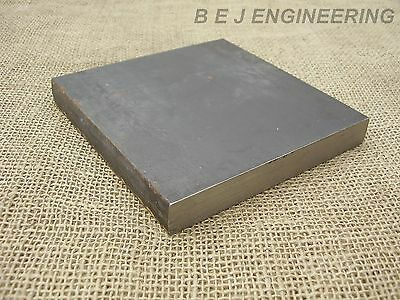 Black Steel Square Plate 150mm x 150mm x 20mm  - CLEARANCE - Fixing-Mounting