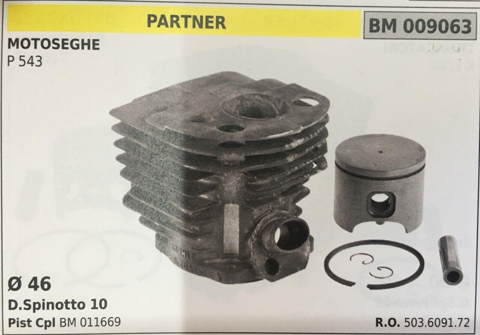 Cilindro Completo por Pistón y Segmentos Brumar BM009063 Partner