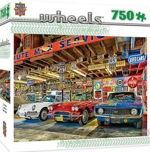 Wheels-Triple-Threat-Classic-Cars-750-piece-jigsaw-puzzle-610mm-x-460mm-mpc