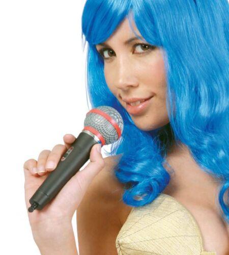 Microfono finto in plastica cm 20 per travestimento cantante