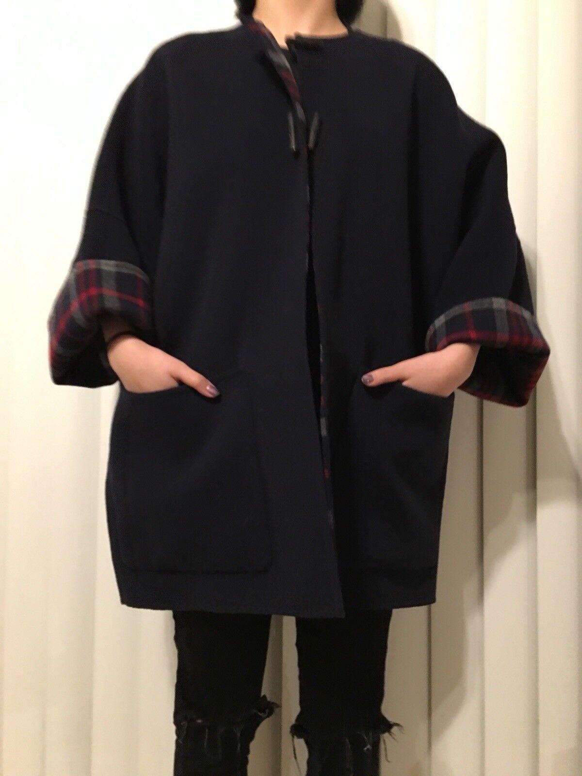 BRAND NEW Carolina Herrera Double Sided Wool Coat Women Size Xs