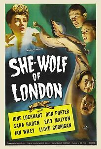 Image Is Loading Universal Horror She Wolf Of London Movie Poster