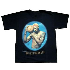 Vintage 1997 DENNIS RODMAN Bad As I Wanna Be Black T-shirt Unisex All Size ZL398