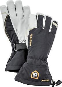 2020 Mens Hestra Army Leather Gore Tex 5 Finger Ski Glove Size 8 Black 31460