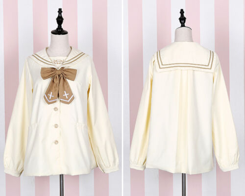 Vintage Preppy Style Sailor Collar Japanese Harajuku Sweet Lolita Jacket Coat