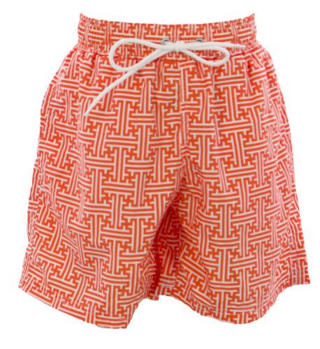 NAILA Boy/'s Orange Line Printed Swim Trunks JULIENORG Sz 8Y $85 NEW