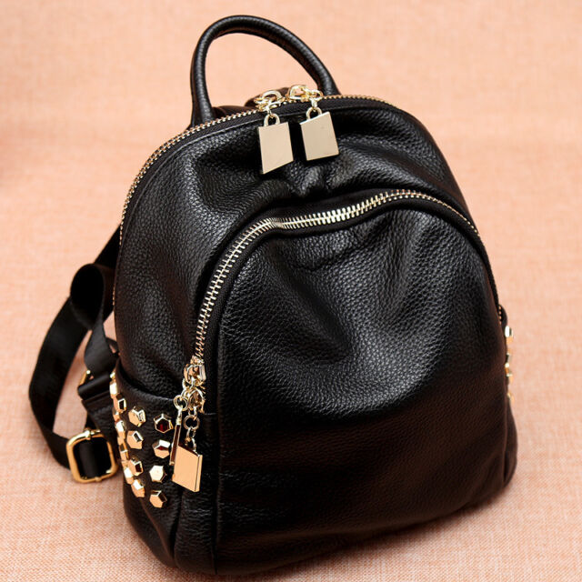 Women/'s Small Mini Real Leather Backpack Rucksack Daypack Purse Cute bag Travel